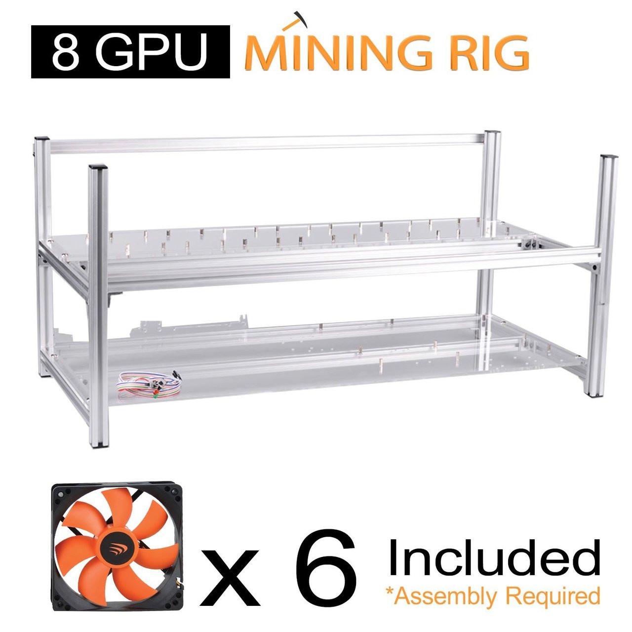 AAAwave 8 GPU open frame mining rig case set - Case + 6 x AAAwave 2100 rpm  fan
