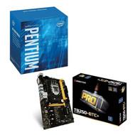 Special bundle - Biostar TB250-BTC+ 8 GPU SUPPORT LGA 1151 Core i7/i5/i3 LGA1151 Intel B250 DDR4 + Intel BX80677G4560 Pentium G4560 Series 3.50 GHz Dual-Core LGA 1151 Processor