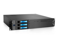 iStarUSA D-230HB-T-BLUE 2U Compact 3x 3.5 Bay Hotswap microATX  Blue