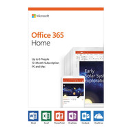 Microsoft 6GQ-01028 Office 365 Home 6 PC/Mac 1-Year Medialess Product Key Card