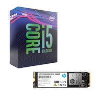 Intel BX80684I59600K Core i5-9600K Processor + HP 2YY45AA#ABC EX920  256GB M.2 SSD