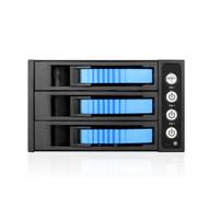 """iStarUSA BPU-230HD-BLUE 2X 5.25 to 3X 3.5 2.5"""" 12Gb/s HDD SSD Hot-swap Rack"""