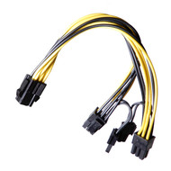AAAwave Single Female 6 Pin PCI-E to Dual Male 6+2 Pin PCI-E Cable