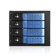 "iStarUSA BPN-DE340HD-BLUE 3x5.25"" to 4x3.5"" 12Gb/s Cage Blue"