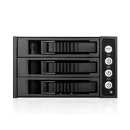 iStarUSA BPU-230HD-BLACK 2x5.25 to 3x3.5 12G Rack Black