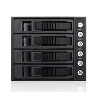iStarUSA BPU-340HD-BLACK 3x5.25 to 4x3.5 12G Rack Black
