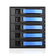 iStarUSA BPU-350HD-BLUE 3x5.25 to 5x3.5 12G Rack Blue