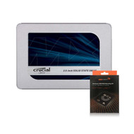 "Special bundle - Crucial CT500MX500SSD1 MX500 500GB 2.5"" SSD + AAAwave Aluminum HDD/SSD Mounting Kit"