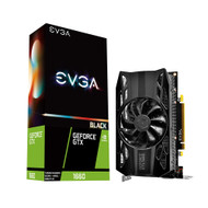 EVGA 06G-P4-1160-KR GeForce GTX 1660 Black Gaming 6GB GDDR5 Single Fan Graphics Card