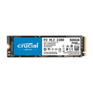 Crucial CT500P2SSD8 P2 500GB 3D NAND NVMe PCIe M.2 SSD Up to 2400MB/s