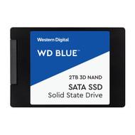 """WD 2TB WD Blue 3D NAND Internal PC SSD - SATA III 6 Gb/s, 2.5""""/7mm, Up to 560 MB/s WDS200T2B0A"""