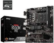 MSI B550M PRO Motherboard (Support 3rd Gen AMD Ryzen, AM4, DDR4, PCIe 4.0, M.2, USB 3.2 Gen 1, HDMI/DP, Micro-ATX)