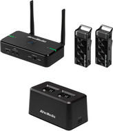 AVerMedia AW315F Wireless Teacher Microphones, Use 2 Microphones Simultaneously, One for Speaker and The Other for Audience