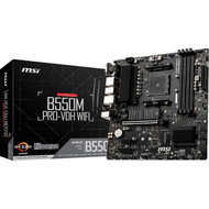 MSI B550M PRO-VDH WiFi ProSeries Motherboard (AMD AM4, DDR4, PCIe 4.0, SATA 6Gb/s, M.2, D-SUB/HDMI/DP, Micro-ATX)