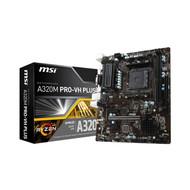 MSI  A320M PRO-VH ProSeries Motherboard (AMD AM4,DDR4,PCIe 3.0,SATA 6Gb/s, USB 3.2 Gen 2,M.2 Slot, DVI/HDMI, Micro-ATX)