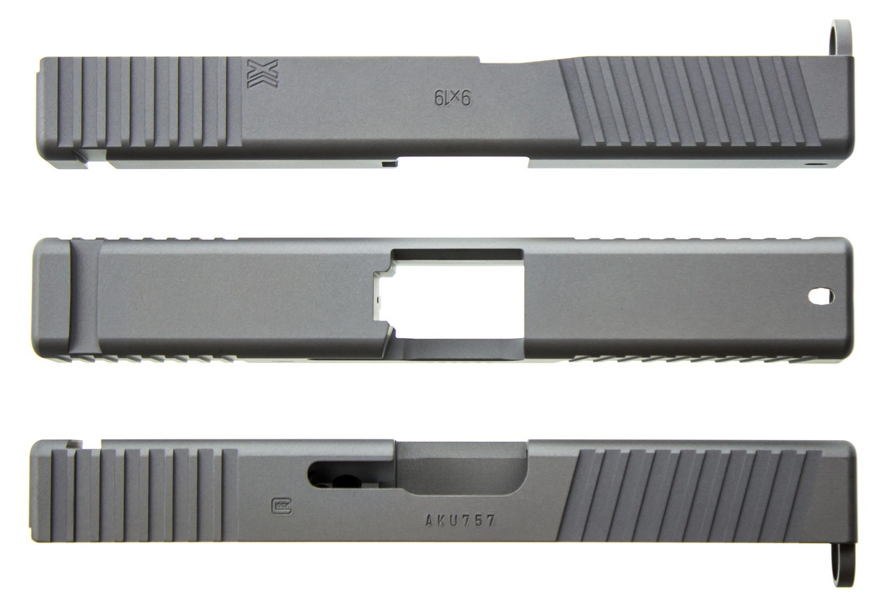Gripper Slide Cut Machining for Glock Slide by Battle Werx, Glock Front Slide Serrations, Enhanced Glock Rear Slide Serrations.
