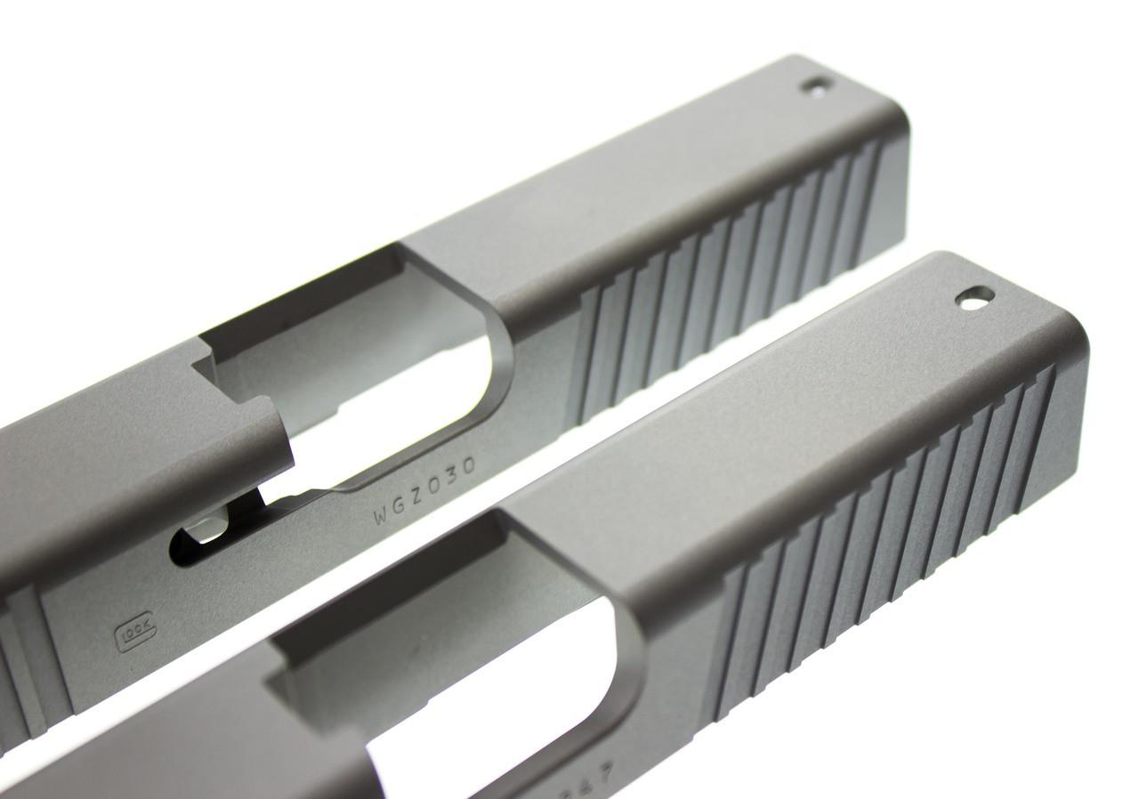 Gripper Slide Cut Machining for Glock Slide by Battle Werx, Glock Front Slide Serrations, Enhanced Glock Rear Slide Serrations.