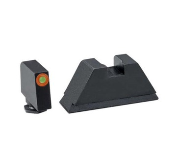 "AmeriGlo: Glock 1XL Suppressor Sight Set (.315"" Tritium-Orange Front / .394"" Black Rear) GL-511"