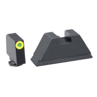 Ameriglo Glock Suppressor Sight Set Tritium Lumi-Green Front / Black Rear GL-611