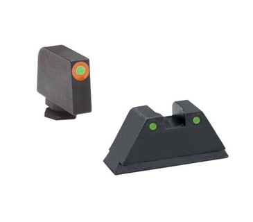 "Ameriglo: Glock 1XL Suppressor Sight Set (.315"" Tritium-Orange Front/.394"" Black-Tritium Rear) GL-452"