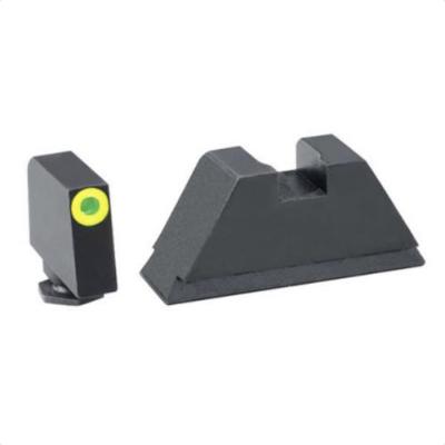 "Ameriglo: Glock MOS Suppressor Sight Set (.350"" Tritium Lumi-Green Front / .429"" Black Rear) GL-681"