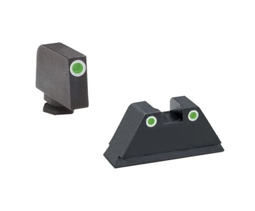 "Ameriglo: Glock Suppressor Sight Set (.350"" Tritium White Front/.429"" Tritium White Rear) GL-330"