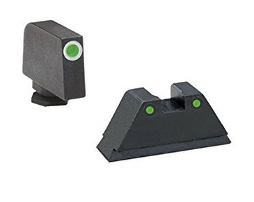 "Ameriglo: Glock 2XL Suppressor Sight Set (.350"" Tritium White Front/.429"" Tritium Black Rear)"