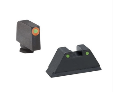 "Ameriglo: Glock Suppressor Sight Set (.350"" Tritium Orange Front/.429"" Tritium Black Rear)"