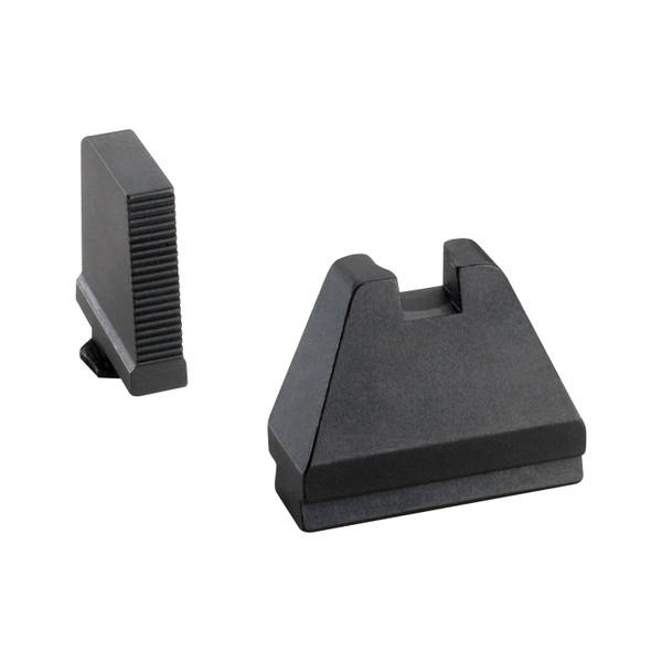 AMERIGLO GL-808 GLOCK SUPPRESSOR SIGHT SET BLACK SERRATED FRONT BLACK REAR