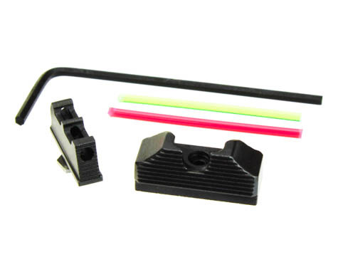 "10-8 Performance Sight Set for Glock 43/43x/48 (.250"" Fiber Front / .325"" Black Rear) (10_8_F250-125_R325-156)"