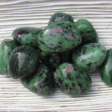 Tumbled Ruby Zoisite  Crystals