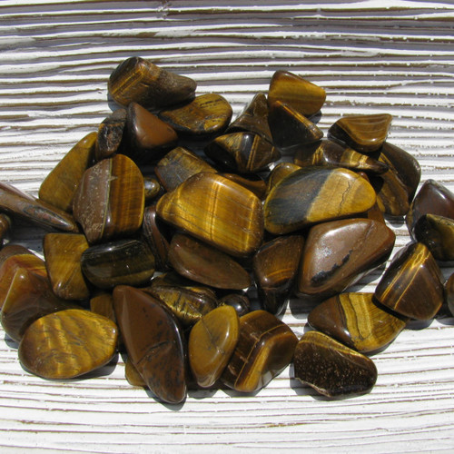 Golden Tigers Eye Tumbled Stones