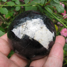 Option 1: Black Tourmaline Sphere, 58 mm-2.28""