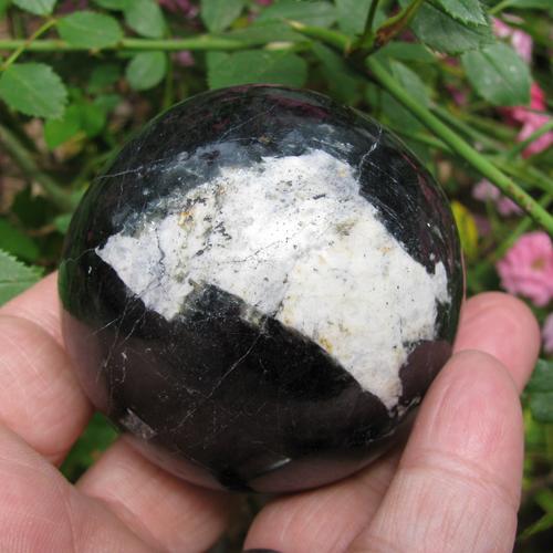 "Option 1: Black Tourmaline Sphere, 58 mm-2.28"""