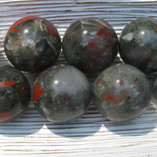 Bloodstone 40 mm Spheres