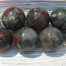 Bloodstone 40 mm Spheres