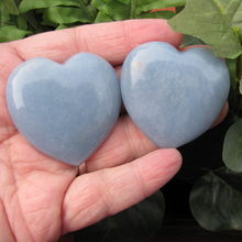 Angelite 45mm Flat Hearts