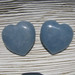 45mm Angelite Flat Hearts
