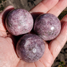 Lepidolite Spheres, 40mm