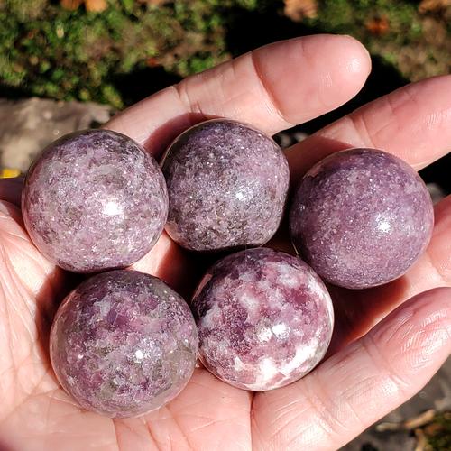 Lepidolite Spheres, 30mm