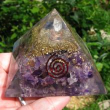 Amethyst Orgonite Pyramid, Orgone, Amethyst Pyramid