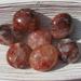 Red Hematoid Pebbles, Fire Quartz Pebbles, Harlequin Quartz Pebbles