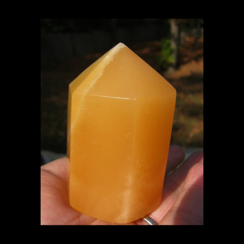 "Orange Calcite Polished 2.5"" Points"