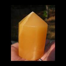 """Orange Calcite Polished 2.5"""" Points"""