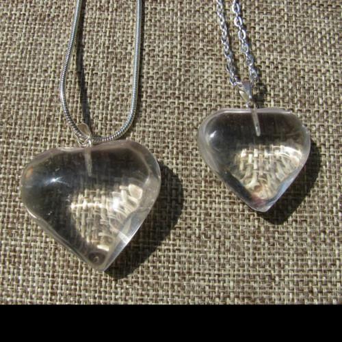 Quartz Heart, Polished Pendant