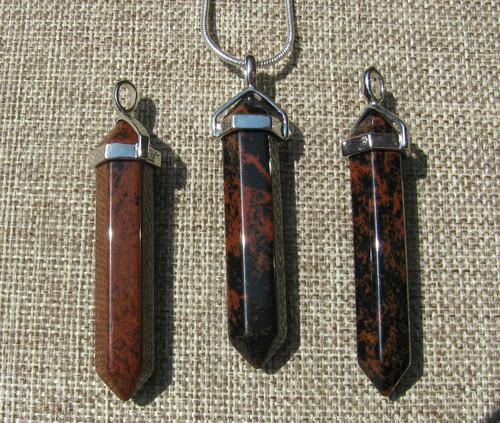 Mahogany Obsidian Pendants
