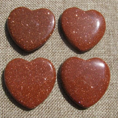 Goldstone Flat Hearts