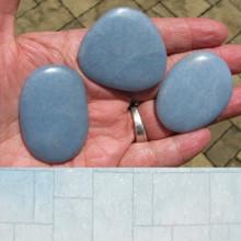 Angelite Irregular Shaped Palm stone