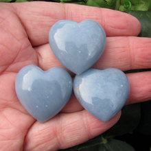 Angelite 30mm Flat Hearts