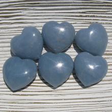 30mm  Angelite Hearts